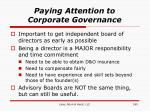 paying attention to corporate governance