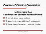 purpose of forming partnership