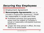 securing key employees