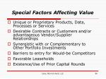 special factors affecting value