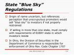 state blue sky regulations