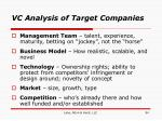 vc analysis of target companies