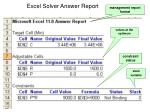 excel solver answer report