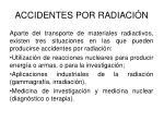 accidentes por radiaci n