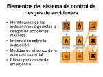 elementos del sistema de control de riesgos de accidentes
