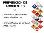 prevenci n de accidentes oit