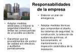 responsabilidades de la empresa25