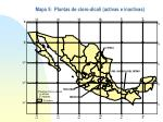mapa 5 plantas de cloro lcali activas e inactivas