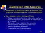 colaboraci n entre funciones