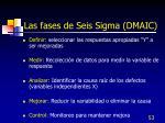 las fases de seis sigma dmaic