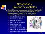 negociaci n y soluci n de conflictos