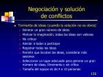 negociaci n y soluci n de conflictos136