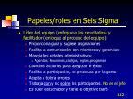 papeles roles en seis sigma182