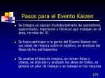 pasos para el evento kaizen175
