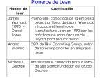 pioneros de lean73
