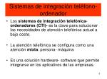 sistemas de integraci n tel fono ordenador