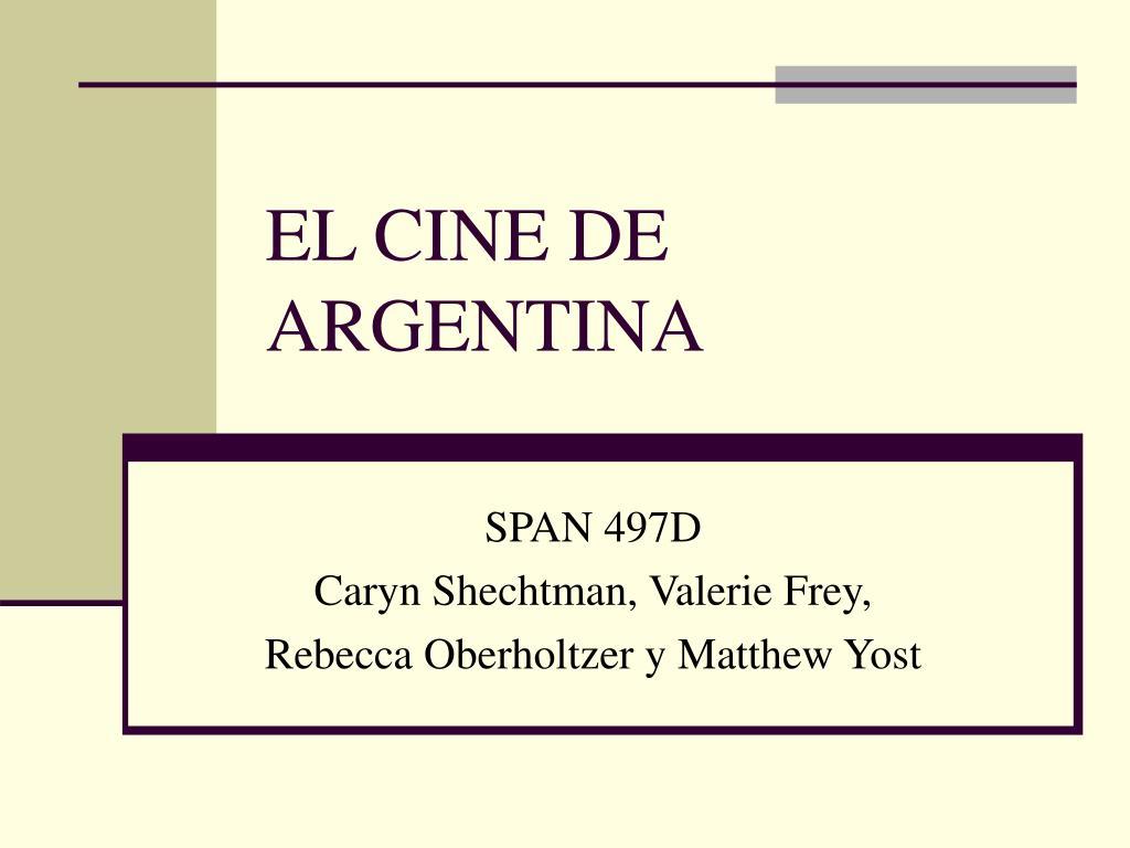 el cine de argentina l.