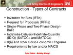 construction types of contracts