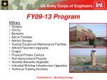 fy09 13 program