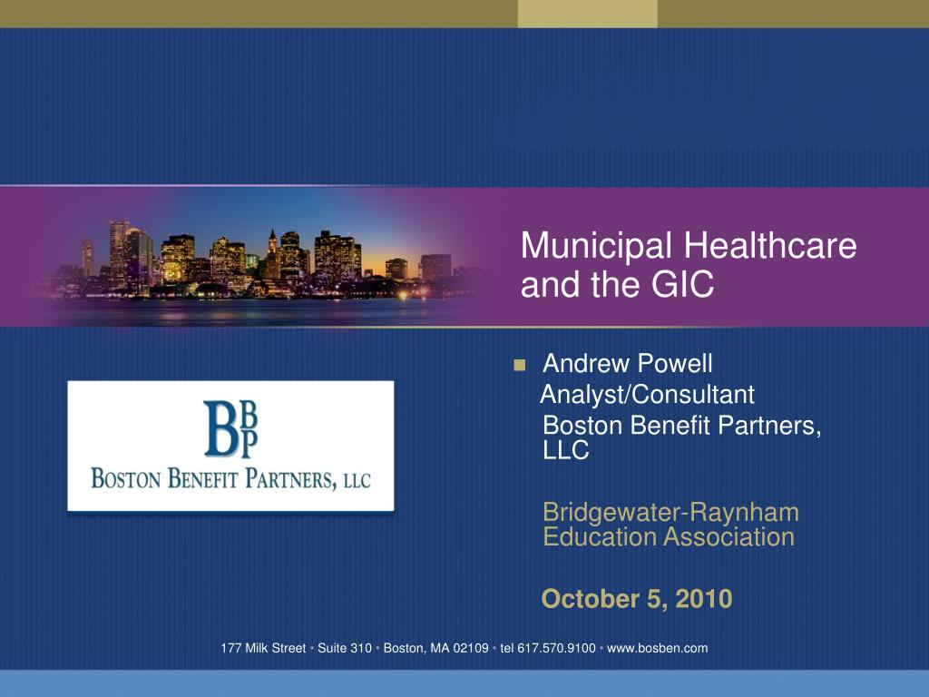 municipal healthcare and the gic l.