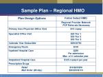 sample plan regional hmo