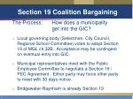 section 19 coalition bargaining27