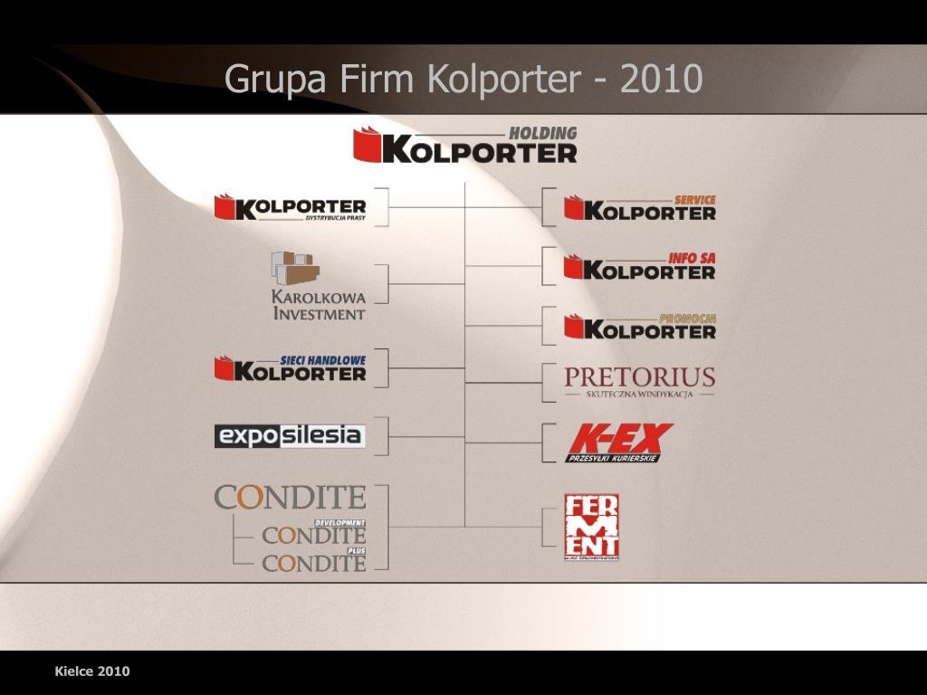 Grupa Firm Kolporter - 2010