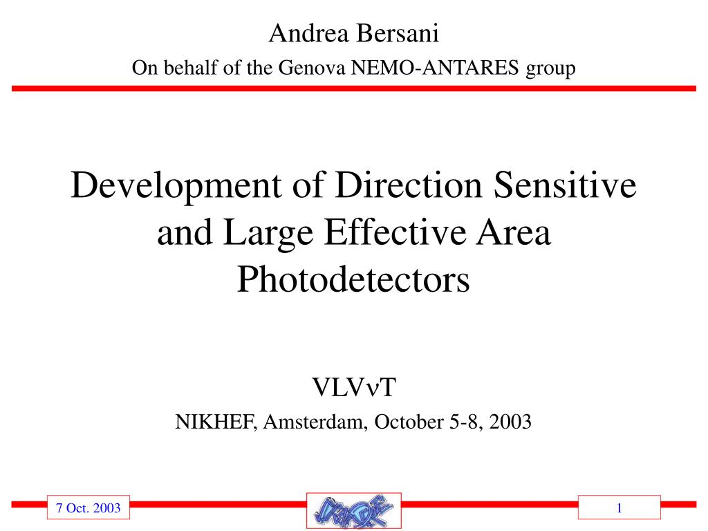 development of direction sensitive and large effective area photodetectors l.