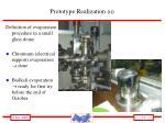 prototype realization ii