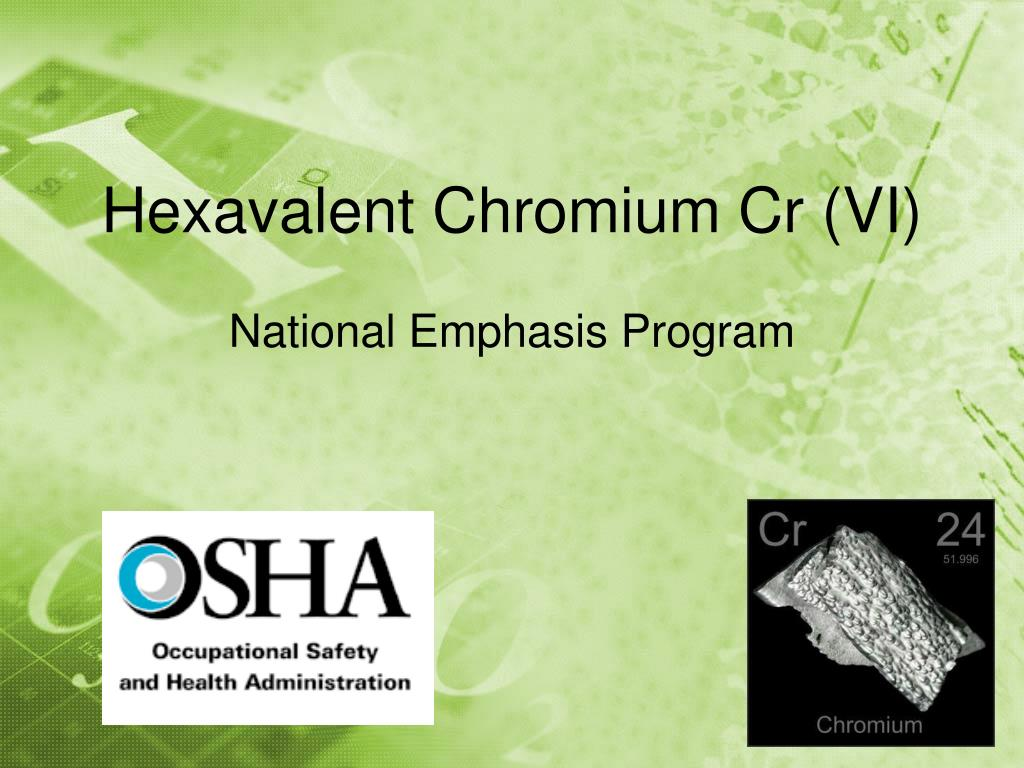 hexavalent chromium cr vi l.
