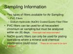 sampling information
