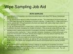wipe sampling job aid