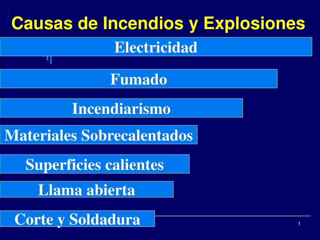 causas de incendios y explosiones l.
