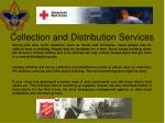 collection and distribution services