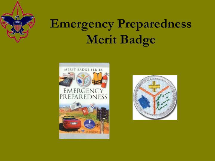 emergency preparedness merit badge n.
