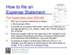 how to file an expense statement