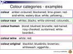 colour categories examples