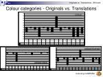 colour categories originals vs translations