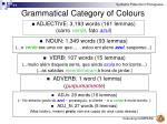 grammatical category of colours31