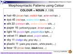 morphosyntactic patterns using colour