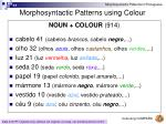 morphosyntactic patterns using colour33