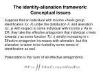 the identity alianation framework conceptual issues