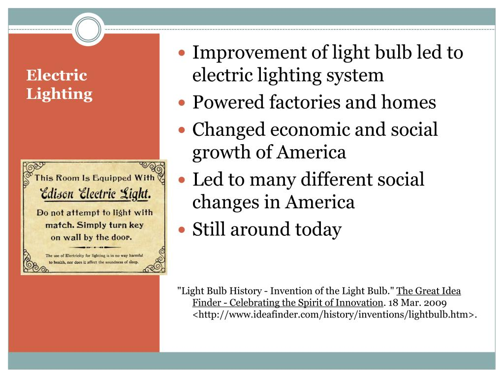 Improvement of light bulb led to electric lighting system