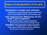 impact of deregulation of the grid