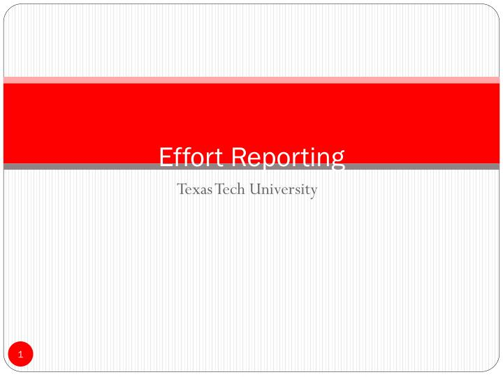 effort reporting n.