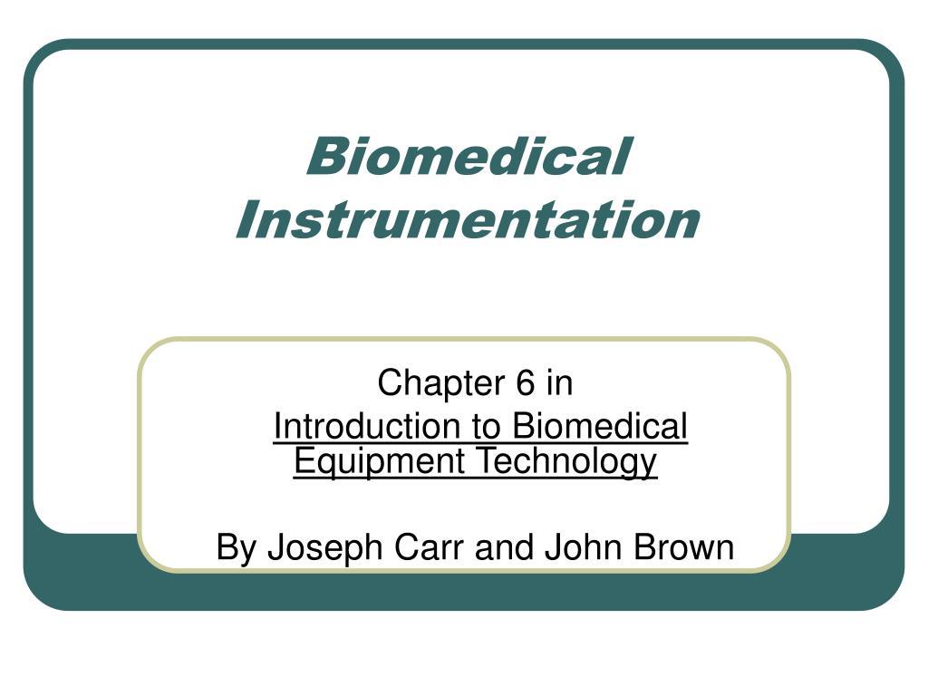 biomedical instrumentation l.