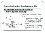 calculation for resistance rs