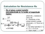 calculation for resistance rs56