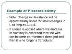 example of piezoresistivity76