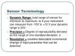 sensor terminology16